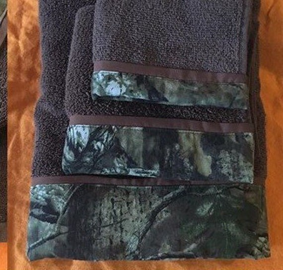 Camo Towel Sets Camouflage Realtree Mossy Oak By