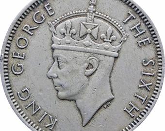 1950 Malaya 20 Cents George VI Coin