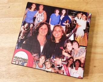 Keepsake Box, Personal Keepsake Box, Custom Photo Collage, Photo Collage Box, Photo Collage, Personal Photos, Custom Photo Box, Photo Box