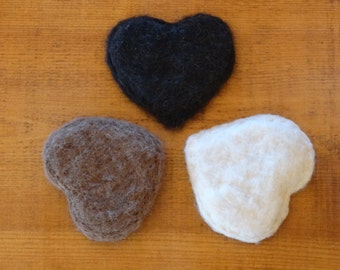 needle felted heart sachet filled with wild Wyoming sage