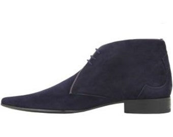 MENS Fashion Blue Ankle Suede BOOT,Men ANKLE-High Boots
