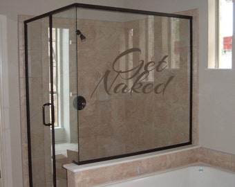 Bathroom Get Naked Wall Decal Sticker