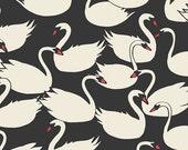 Organic Boppy Cover >> Hello Ollie Swanlings in Black >> Boppy Newborn Lounger Nursing Pillow MADE-to-ORDER swan boppy, black boppy, modern