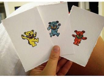 Dancing Bear Watercolor Trading Cards
