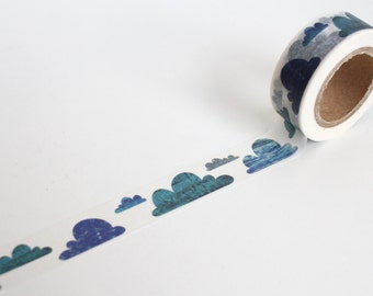Blue  Clouds Washi Tape/ Dreams Planner tape/Scandi  Blue sky Journal Washi