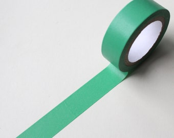 Green Washi tape/ Jade Green Solid Colour Planner tape