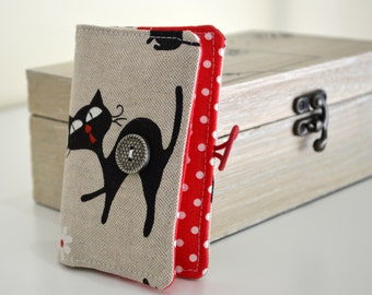 Business card wallet, coffee card wallet, mini wallet - kitty