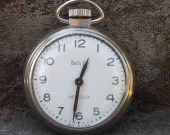 Westclox Bull's Eye Pocket Watch Vintage