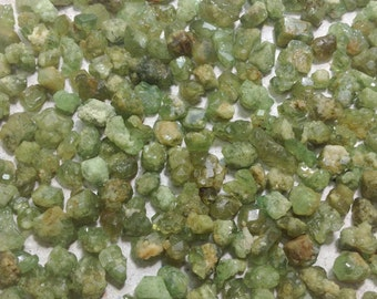 2 grams Small rough demantoid garnet , raw demantoid garnet size 4-6 mm.