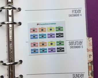 Itsy Bitsy Cameras Stickers for Planner or Scrapbooking