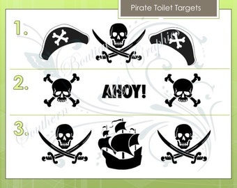 Pirate Toilet Targets. 3 Designs to choose from!
