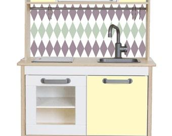 Set de jeu cuisine autocollant rautig convient pour ikea - Autocollant meuble ikea ...