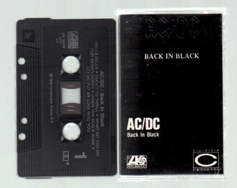 Vintage Cassette Tape : Cassette Tape - AC/DC - Back In Black Atlantic CS-16018