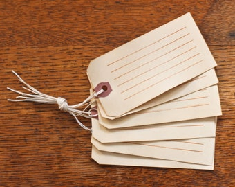 set of 6~ To You, Coffee Stained Gift Tags
