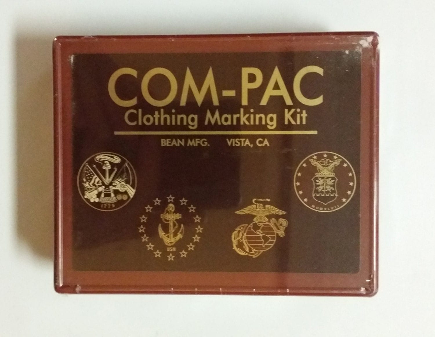 Com-Pac Clothing Marking Kit Rubber Stamp Letters Handles Ink