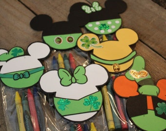 Irish Mickey Mouse Clubhouse Crayon Party Favor Set of 6