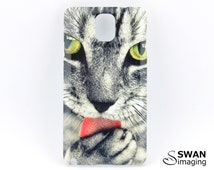 Cat Phone Case ~ Cat licking paw ~ Samsung Galaxy S3, S4, S5, S6, S7, Note 2, Note 3, Note 4, Note 5