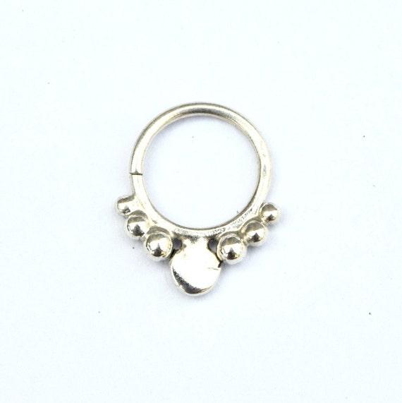 silver septum tribal septum ring real septum ring by