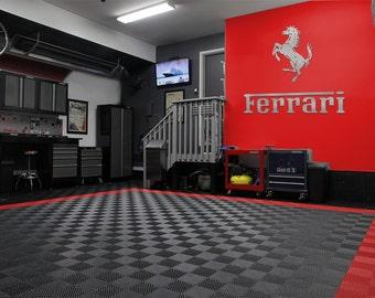 """3 foot Ferrari Cavallino Rampante """"Prancing Horse"""" & 3 foot Ferrari text combo"""