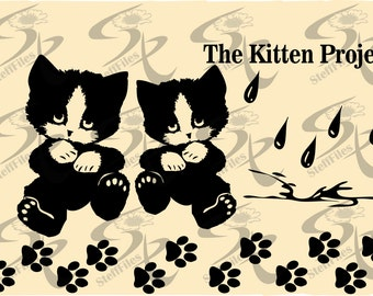 0419_CAT The Kitten Project,Vector, clipart Signature,SVG,DXF,ai,png, eps,jpg,Download files,Digital, graphical