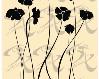 0160_Vector_flowers,SVG,DXF, AI, png, eps, jpg,various,flowering elite decoration clip art Silhouette,Download files, Digital, graphical