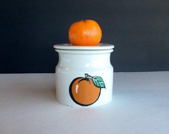 Vintage Arabia Finland Tutti Frutti Orange Jam Pot