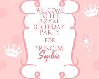 Royal Princess Birthday Invitation & Welcome Sign
