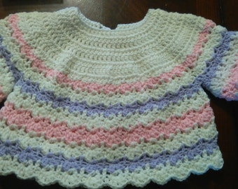 Crochet baby sweater (0-3 months)