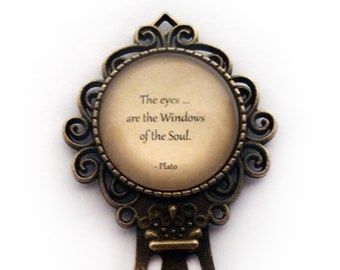 """Plato """"The Eyes are the Window to the Soul"""" Bookmark"""