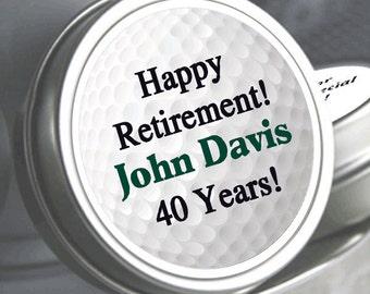 12 Golf Retirement Mint Tins - RetireMints - Golf - Retirement Favors - Retirement Decor - Retirement Mints - Retired Golf Mints - Par