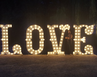 6ft marquee wedding letters.Circus font ultra.