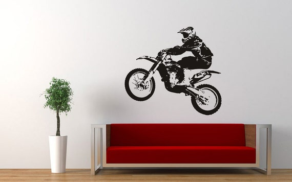 Wall Sticker Decals Room Design Decor Dirt Bike Motorcycle