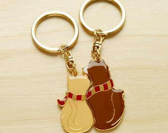 Perfect Together Key Ring- Cat and Dog