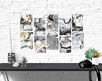 "5"" x 7"" Handmade Marble Stationery (Set of 10)"