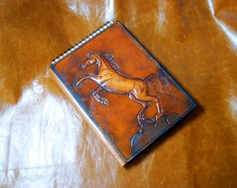 Horse Genuine leather Cover on sketchbooks, notebook, diary