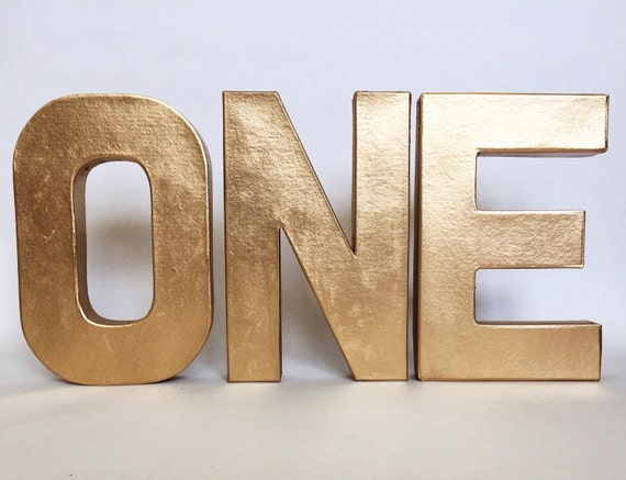 metallic stand up one sign first birthday photo prop party decor