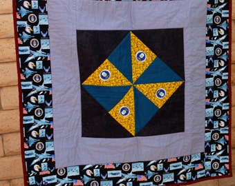 Air Force Military Lap Quilt