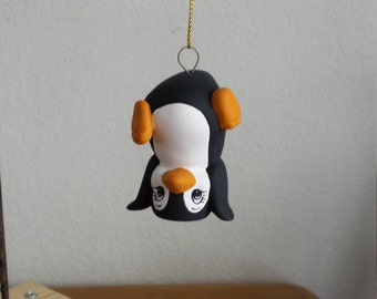 Ceramic Playful Penguin Ornament Standing on Head(#571)