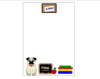 Pug Teacher Pad - Personalization