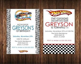 Hotwheels Invites
