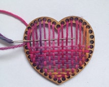 DIY small heart handweaving decoration