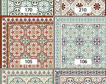 Linoleum fliesen  Fliesen Muster Dekorative PVC-Vinyl Matte Linoleumteppich