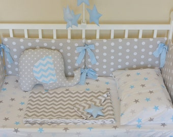 Baby bedding set crib bumper protector