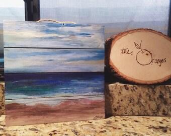 pallet sea painting