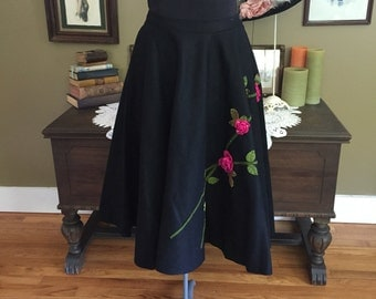 1950's Felt Circle Skirt