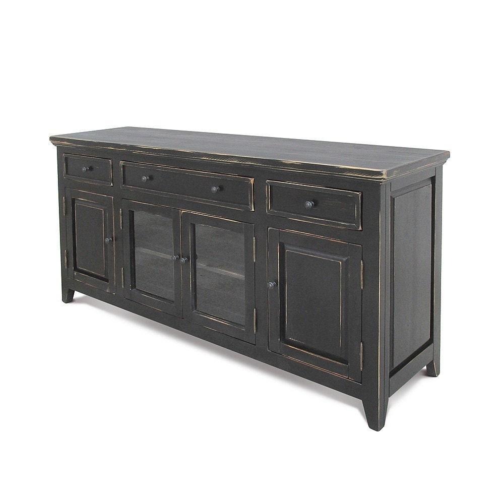 Sideboard Media Console Reclaimed Wood Buffet TV Stand -> Wood Tv Sideboard