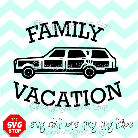 Family Vacation Station Wagon Svg Dxf Jpg Png Eps Files For