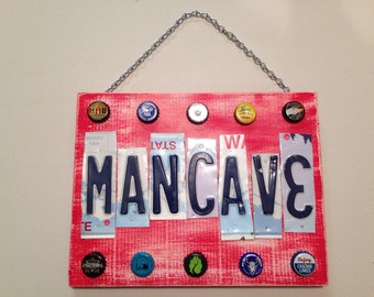 License plate Man Cave sign