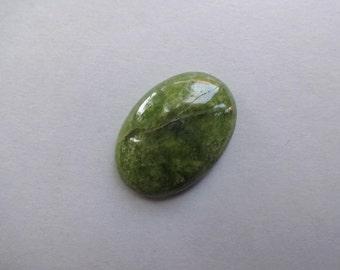 Green Vessonite Vesuvianite large oval cabochon 41x30 mm