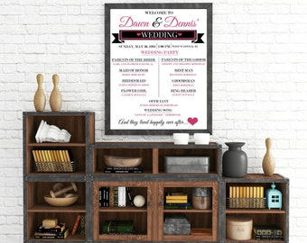 "Personalized ""Welcome To Our Wedding"" Wall Art"